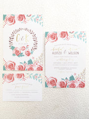 Desert Boho Chic Wedding, Bridal Shower or Party Printed Invitation Suite 0105
