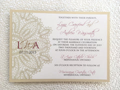 Beautiful Lace Detail Printed Invitation 1227