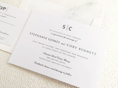 Simple Elegance Wedding, Bridal Shower or Party Printed Invitation Suite 0104