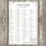 Rustic Wood Seating Chart 03480