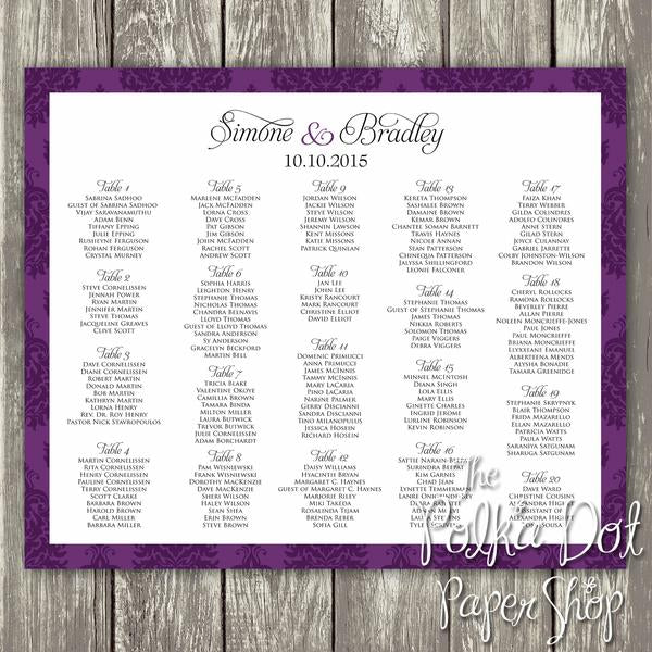 Dramatic Damask Seating Chart 03500