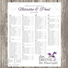 Purple Calla Lily Seating Chart 04110