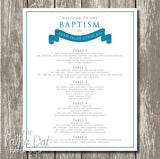 Modern Banner Baptism Seating Chart 04041