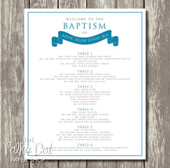 Modern Banner Baptism Seating Chart 0404