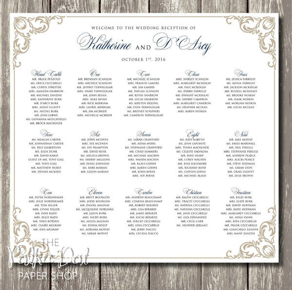 Royal Blue and Gold Seating Chart 0408