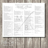 Modern Monogram Seating Chart 04091