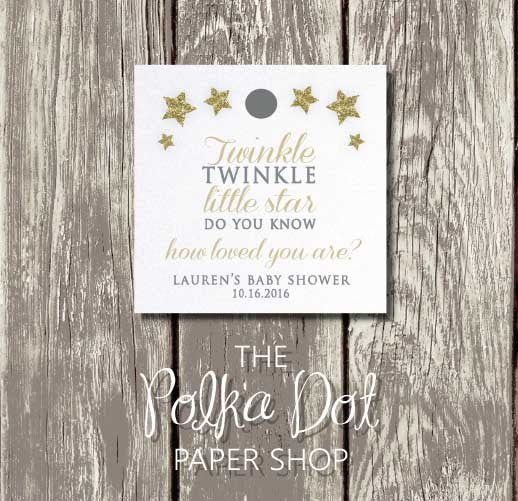 50 Twinkle Twinkle Little Star Favour Tags 0693