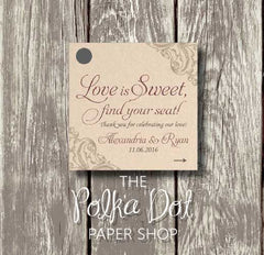 50 Love is Sweet Fall Themed Favour Tags 0696