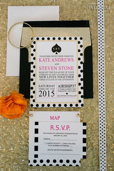 Kate Spade Inspired Wedding Invitation Or Bridal Shower
