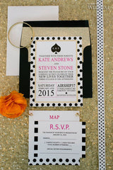 Kate Spade Inspired Wedding Invitation or Bridal Shower Invitation 0270