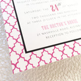 Moroccan Colour Pop Wedding Invitation 7548