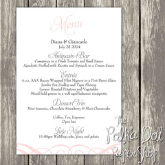 Wedding or Special Event Menu 0386