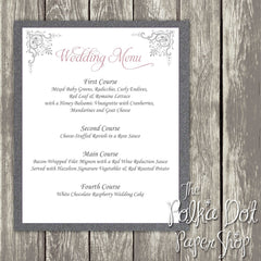 Wedding or Special Event Menu 0384