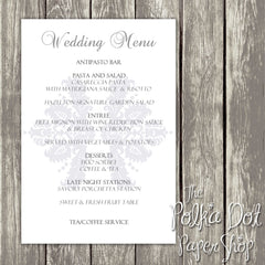 Wedding or Special Event Menu 0383