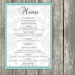 Wedding or Special Event Menu 0382