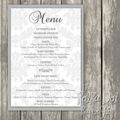 Wedding or Special Event Menu 0381