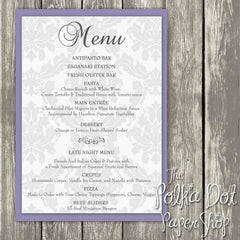 Wedding or Special Event Menu 0380