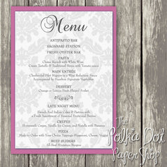 Wedding or Special Event Menu 0379