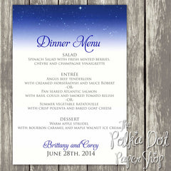 Wedding or Special Event Menu 0397