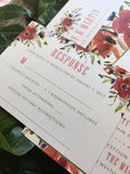 Asymmetrical Garden Floral Printed Wedding Invitation 10245
