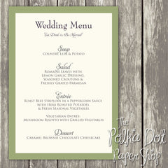 Wedding or Special Event Menu  0373