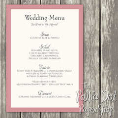 Wedding or Special Event Menu 0377