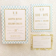 Moroccan Colour Pop Wedding, Bridal Shower or Party Printed Invitation Suite 7546