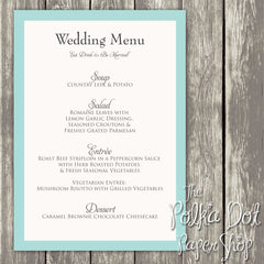Wedding or Special Event Menu 0376