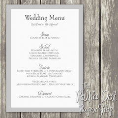 Wedding or Special Event Menu  0375