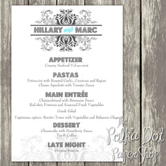 Wedding or Special Event Menu 0374