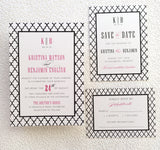 Moroccan Colour Pop Wedding, Bridal Shower or Party Printed Invitation Suite 7549