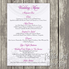 Wedding or Special Event Menu 0371