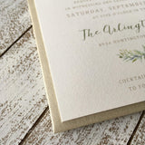 Olive Branch Flat Card Invitation 63887