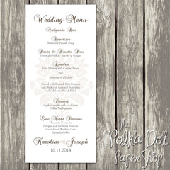 Wedding or Special Event Menu 0395