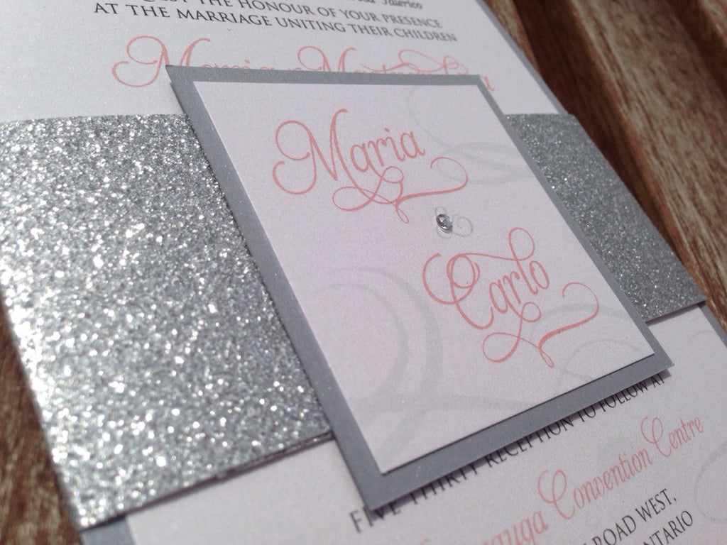 Magnificent Belly Band Wedding Invitations Images - Invitations ...