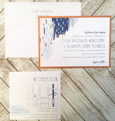 Industrial Artistic Chic Wedding Invitation 33885