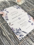 NEW 2019! Wild Dusty Roses Wedding Invitation 54759