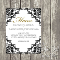Wedding or Special Event Menu 0388