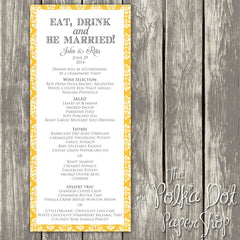 Wedding or Special Event Menu 0394
