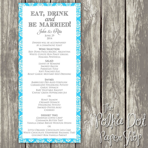 Wedding or Special Event Menu 0393