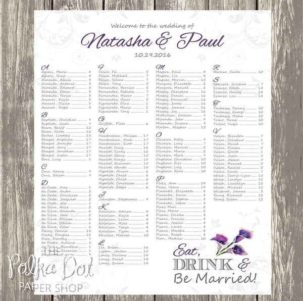 Purple Calla Lily Seating Chart 0402