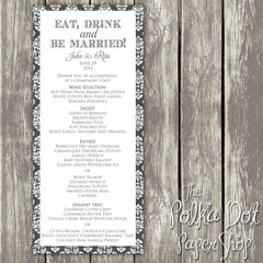 Wedding or Special Event Menu 0391