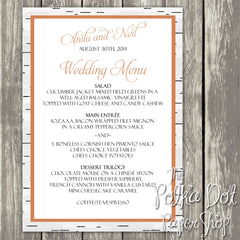 Wedding or Special Event Menu 0387