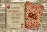 Ace of Hearts Playing Card Wedding Invitation 0301