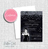 Breakfast at Tiffany's Raining Diamonds Bridal Shower Invitation 0269