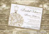 Wedding Dress Bridal Shower Invitation 0253