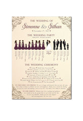 1-sided Silhouette Ceremony Program 4587