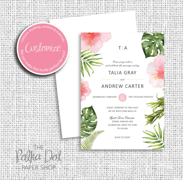 NEW 2019! Floral Wedding Invitation 25458