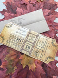 Movie Ticket Themed Flat Invitation with Film Strip Belly Band 0166