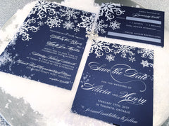 Winter Snowflake Flat Invitation 0756